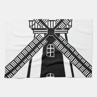 Vector del molino de viento B/W Toalla De Mano
