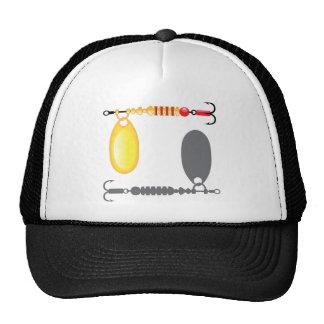 Vector del oro del cebo del hilandero gorras de camionero