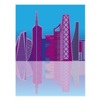 Vector del paisaje urbano postales
