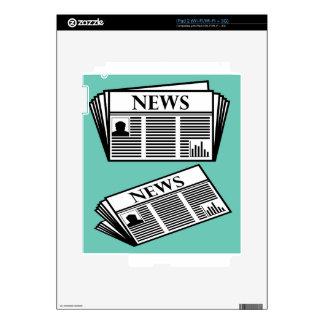 Vector del periódico calcomanía para el iPad 2