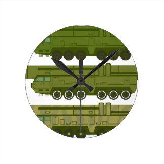 Vector del portador del misil reloj redondo mediano