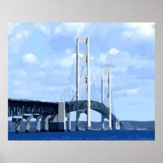 Vector del puente de Mackinac Póster