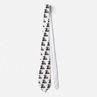 Vector del retrato del pájaro del grajo corbata personalizada