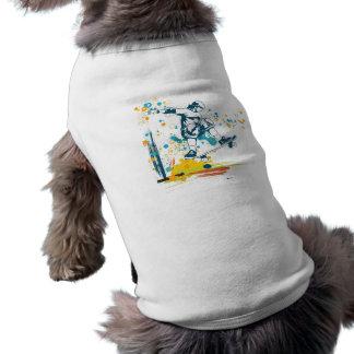 vector del skater de sk8er playera sin mangas para perro