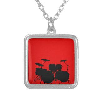 Vector del tambor rojo colgante cuadrado