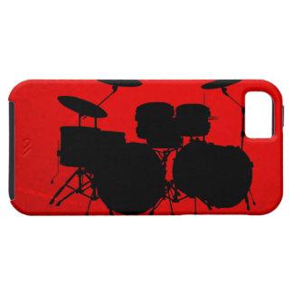 Vector del tambor rojo funda para iPhone 5 tough