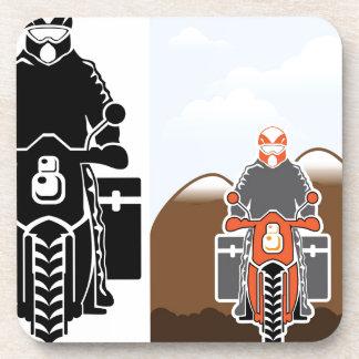 Vector del viaje de Moto Posavasos