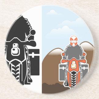Vector del viaje de Moto Posavasos Para Bebidas