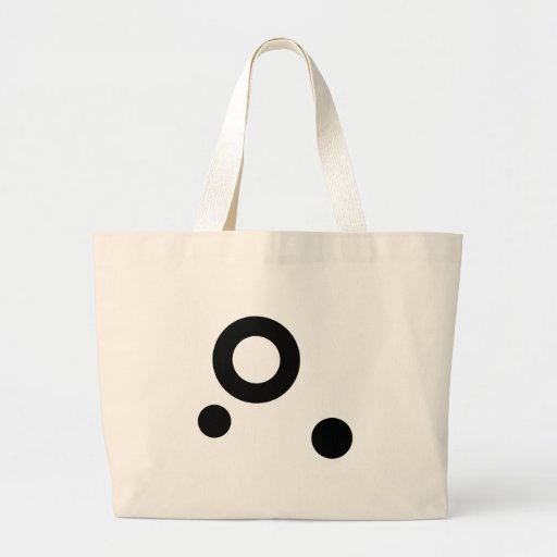 "Vector Design ""Abstract Circles"" (3 circles) Canvas Bag"
