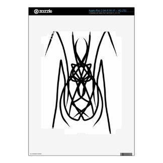 "Vector Design ""Spider"" Tribal Style iPad 3 Decals"