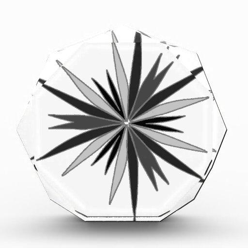 """Vector Design """"Star"""" (Black / Grey / White) Acrylic Award"""