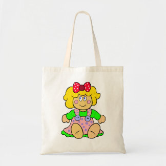 Vector doll  illustration tote bag