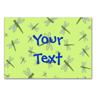 Vector Dragonfly Collage (Green Background) Table Cards