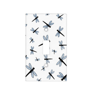 Vector Dragonfly Collage Light Switch Cover
