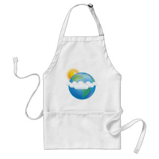Vector Earth Adult Apron