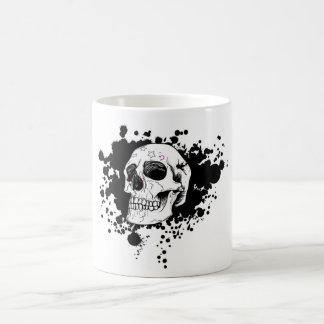 vector emo skull coffee mug