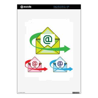 Vector enviado correo del icono del correo iPad 2 calcomanía