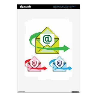 Vector enviado correo del icono del correo iPad 3 pegatinas skins
