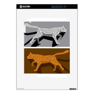 Vector estilizado del gato calcomanía para iPad 2