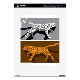 Vector estilizado del gato iPad 3 pegatina skin