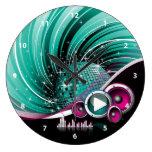 Vector femenino enrrollado elegante de la bola de reloj redondo grande