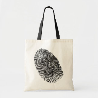 Vector fingerprint tote bag