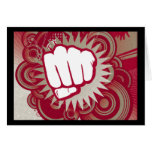 Vector Fist Punch - Original Red Card