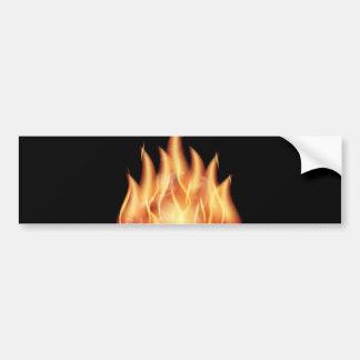 vector-flames1- HOT FIRE FLAMES BURING BLACK ORANG Car Bumper Sticker