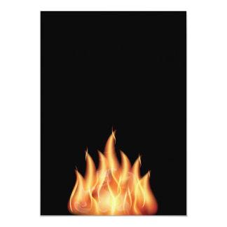 vector-flames1- HOT FIRE FLAMES BURING BLACK ORANG Card