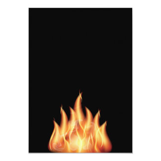 vector-flames1- HOT FIRE FLAMES BURING BLACK ORANG 5x7 Paper Invitation Card