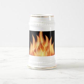vector-flames1- HOT FIRE FLAMES BURING BLACK ORANG Coffee Mug