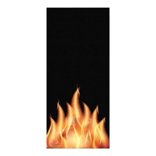 vector-flames1- HOT FIRE FLAMES BURING BLACK ORANG Full Color Rack Card