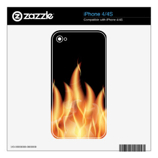 vector-flames1- HOT FIRE FLAMES BURING BLACK ORANG Skins For iPhone 4