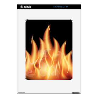 vector-flames1- HOT FIRE FLAMES BURING BLACK ORANG Decals For The iPad