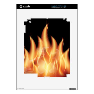 vector-flames1- HOT FIRE FLAMES BURING BLACK ORANG Decals For The iPad 2