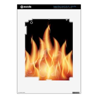 vector-flames1- HOT FIRE FLAMES BURING BLACK ORANG iPad 3 Skin