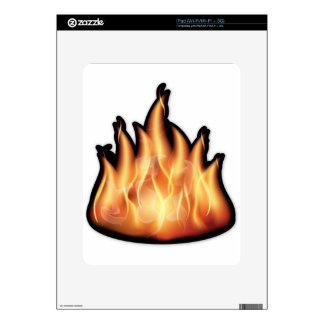 vector-flames- HOT FIRE FLAMES BURING BLACK ORANG iPad Decals