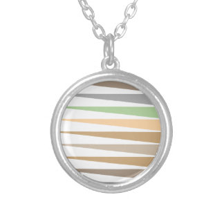 Vector Flat  - Pattern Silver Plated Necklace
