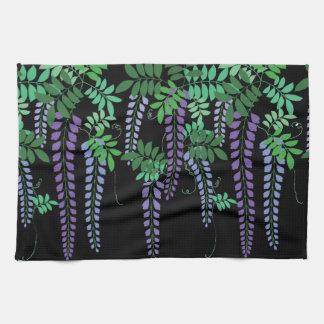 Vector floral de las glicinias del vintage hermoso toalla de mano