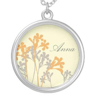 Vector Floral Design Light Name Necklace
