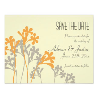 Vector Floral Design Save The Date Invitation