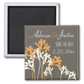 Vector Floral Design Save The Date Magnet Dark