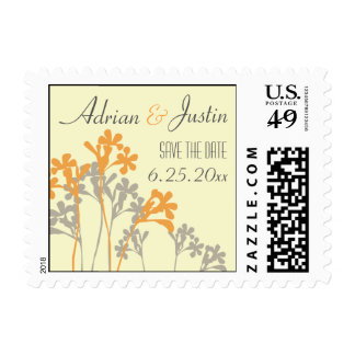 Vector Floral Design Save The Date Postage