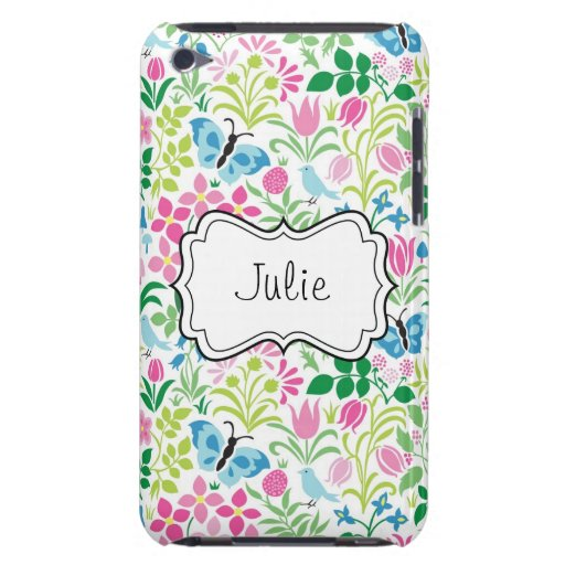 Vector Floral Flower Butterfly Barely There iPod Covers