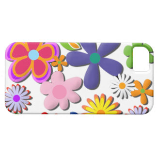 Vector floral retro del flower power iPhone 5 cárcasa