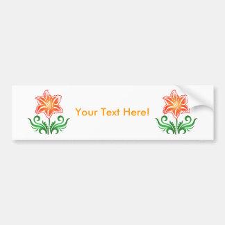 Vector Flower: Bumper Sticker