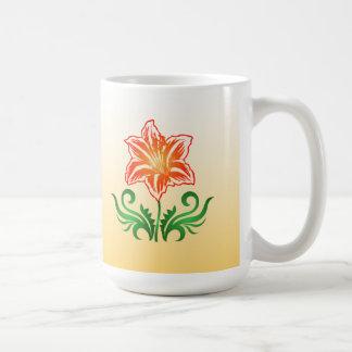 Vector Flower: Coffee Mug