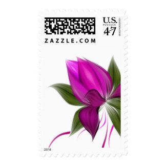 Vector Flower Postage Stamp