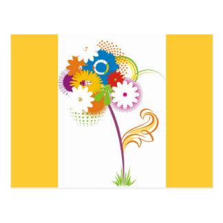 vector_flower postcard