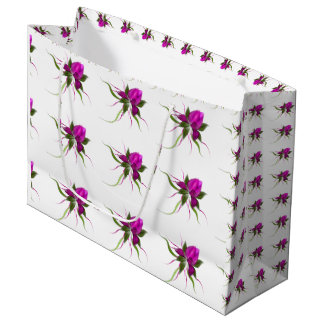 Vector Flower Tiled Large Gift Bag
